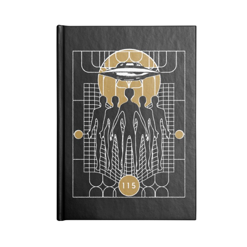 ELEMENT 115 & FLYING SAUCERS Accessories Lined Journal Notebook by Extraordinary Beliefs Artist Shop