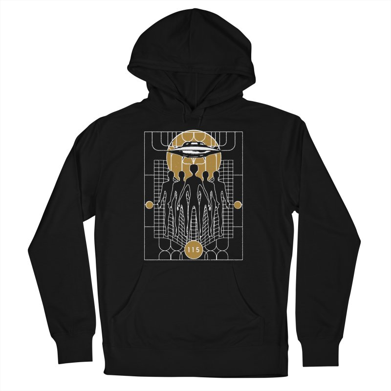 ELEMENT 115 & FLYING SAUCERS Women's French Terry Pullover Hoody by Extraordinary Beliefs Artist Shop