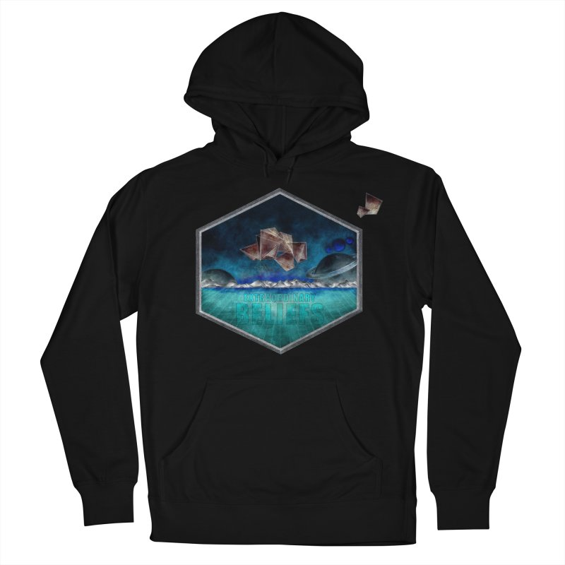 EXTRAORDINARY BELIEFS / DARK in Men's French Terry Pullover Hoody Black by Extraordinary Beliefs Artist Shop