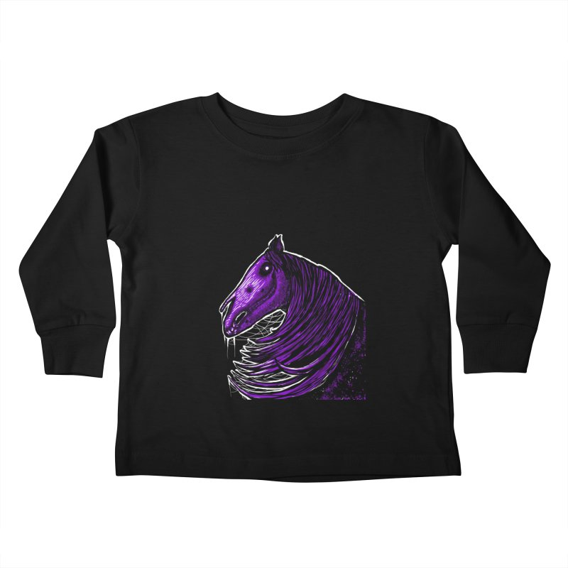 DARK HORSE Kids Toddler Longsleeve T-Shirt by Eyeless's Artist Shop