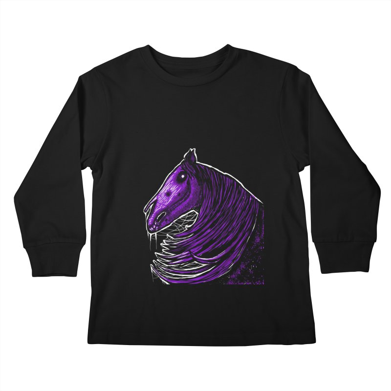 DARK HORSE Kids Longsleeve T-Shirt by Eyeless's Artist Shop