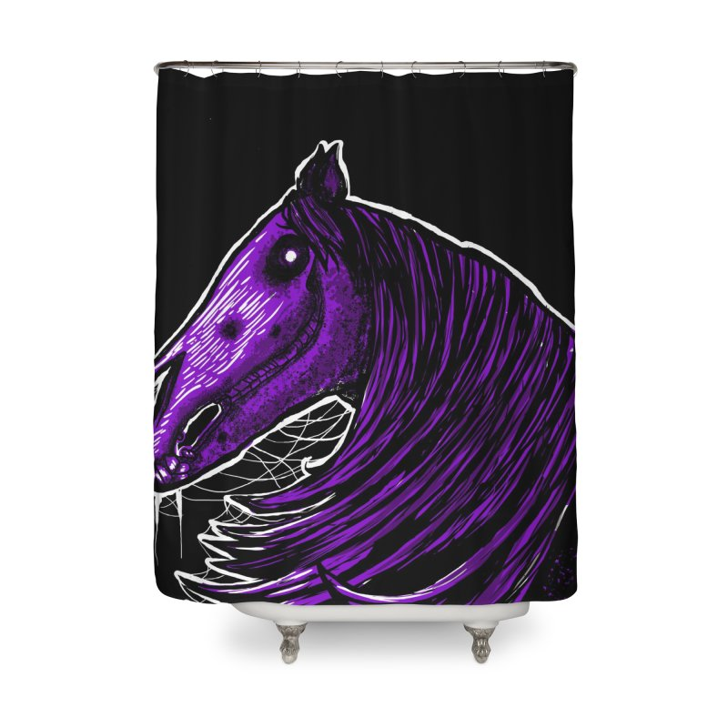 DARK HORSE Home Shower Curtain by Eyeless's Artist Shop