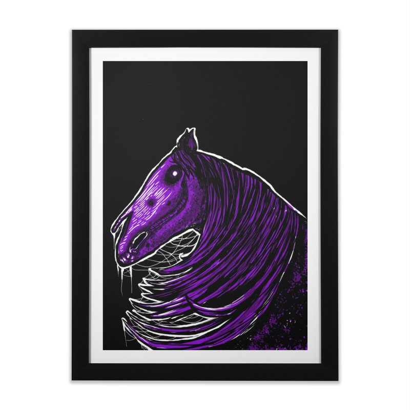 DARK HORSE Home Framed Fine Art Print by Eyeless's Artist Shop