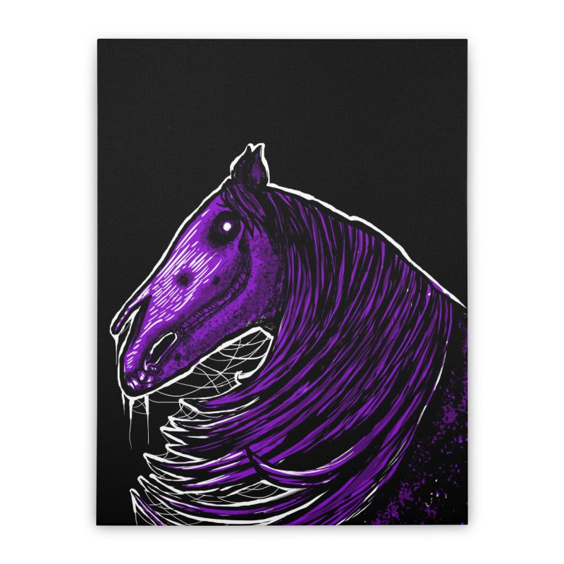 DARK HORSE Home Stretched Canvas by Eyeless's Artist Shop