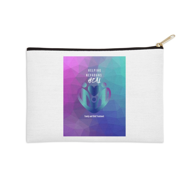 Helping Nevadans Heal Awareness Colors Accessories Zip Pouch by Family and Child Treatment (FACT)