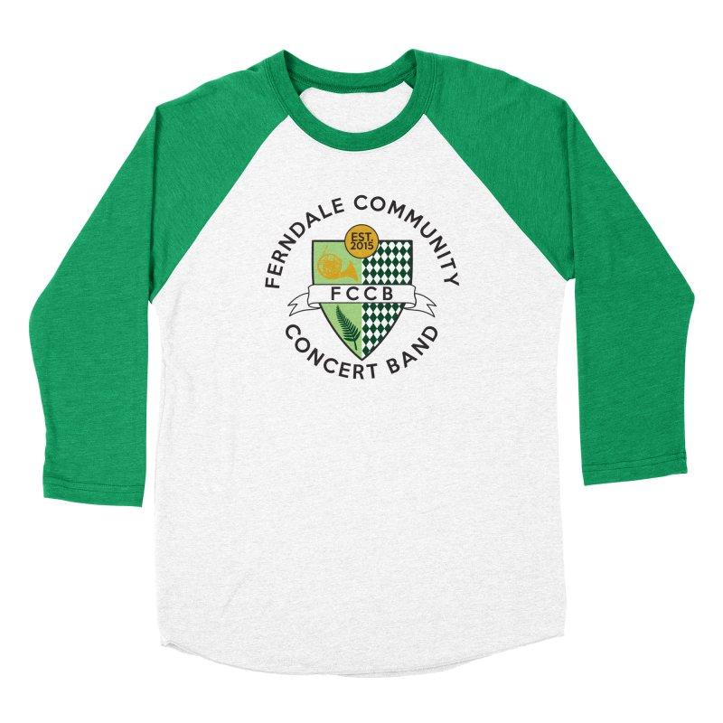 Large Crest- light styles Men's Baseball Triblend Longsleeve T-Shirt by FCConcertBand's Apparel Shop