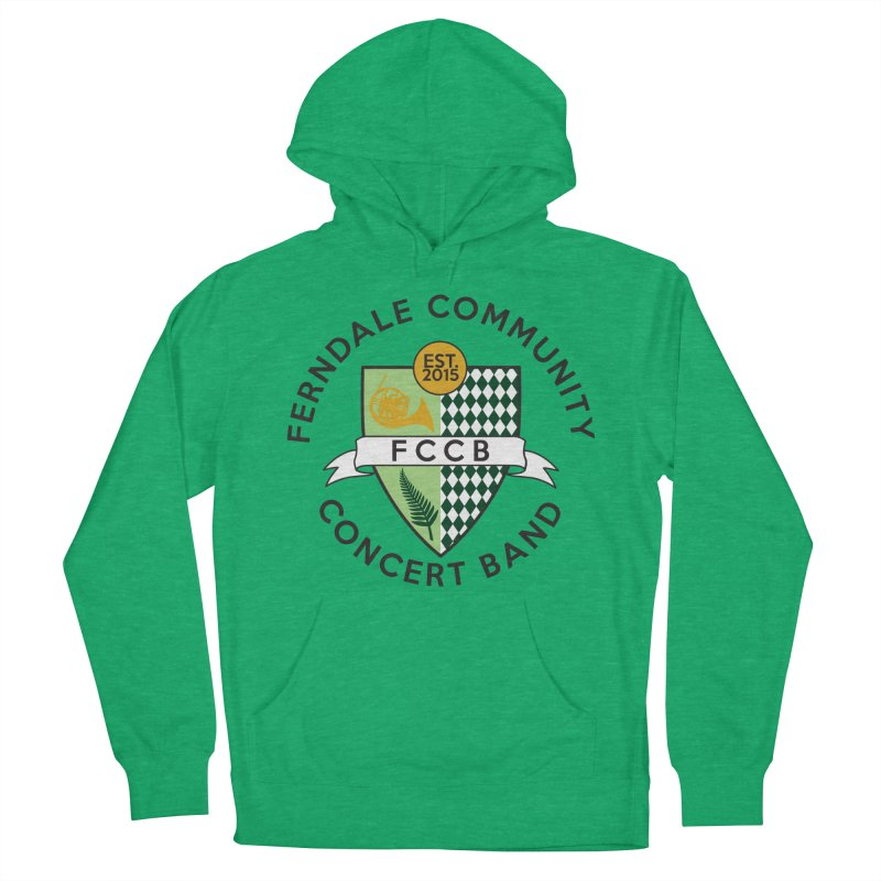 Large Crest- light styles Men's French Terry Pullover Hoody by FCConcertBand's Apparel Shop