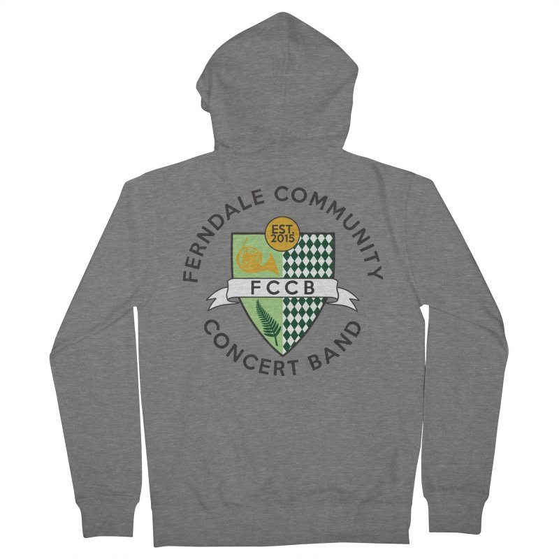 Large Crest- light styles Men's French Terry Zip-Up Hoody by FCConcertBand's Apparel Shop
