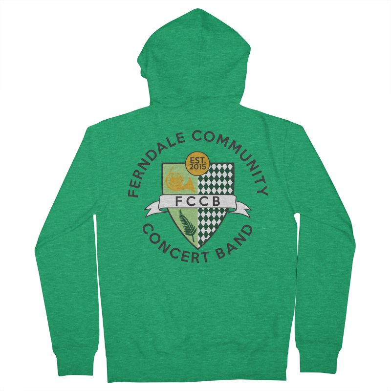 Large Crest- light styles Men's Zip-Up Hoody by FCConcertBand's Apparel Shop