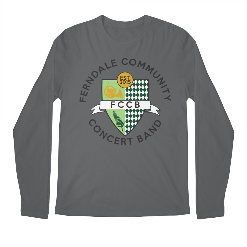 Large Crest- light styles Men's Longsleeve T-Shirt by FCConcertBand's Apparel Shop