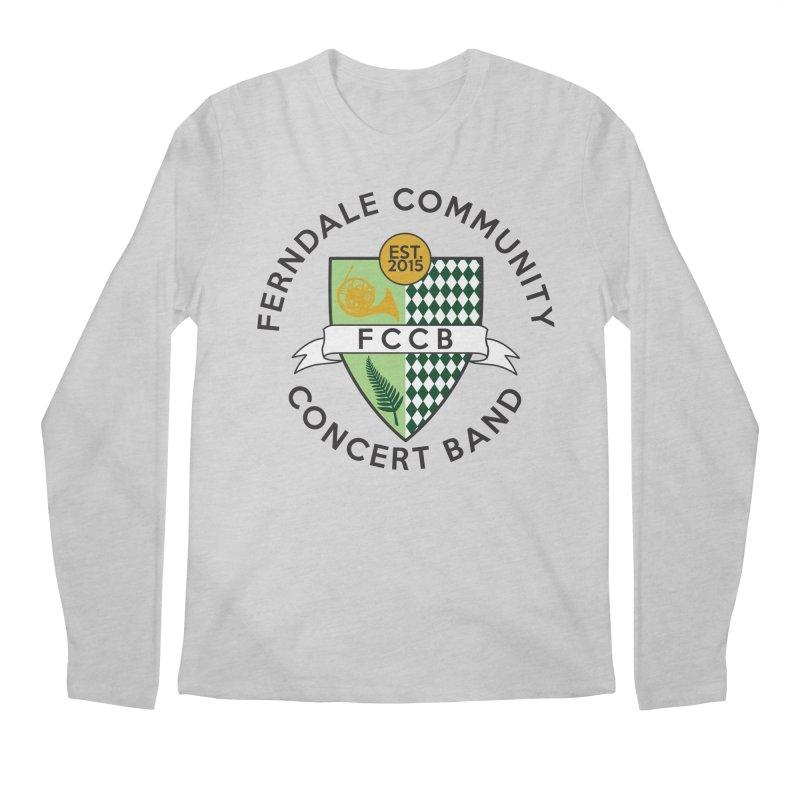 Large Crest- light styles Men's Regular Longsleeve T-Shirt by FCConcertBand's Apparel Shop