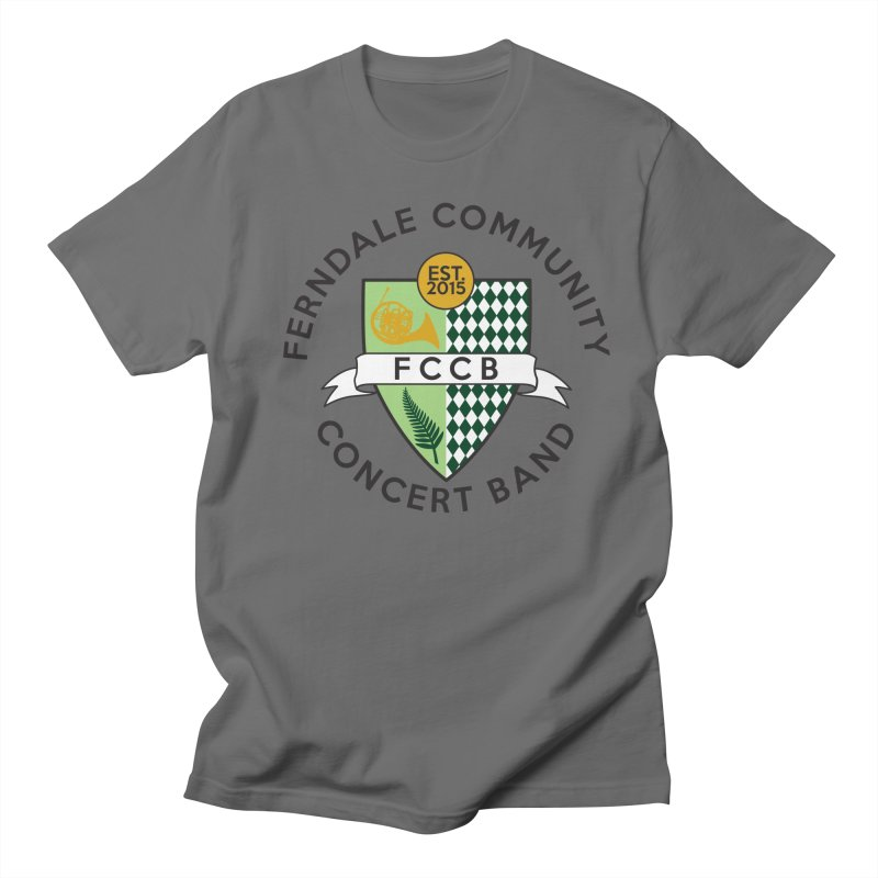 Large Crest- light styles Men's T-Shirt by FCConcertBand's Apparel Shop