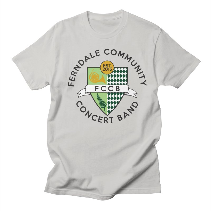 Large Crest- light styles Men's Regular T-Shirt by FCConcertBand's Apparel Shop