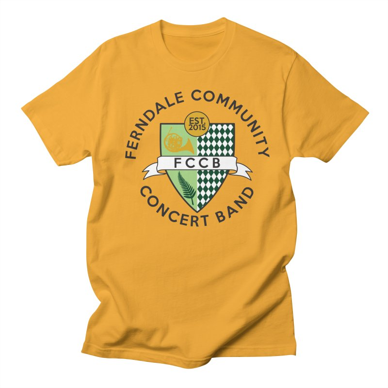 Large Crest- light styles Men's Regular T-Shirt by FCConcertBand's Apparel Shop
