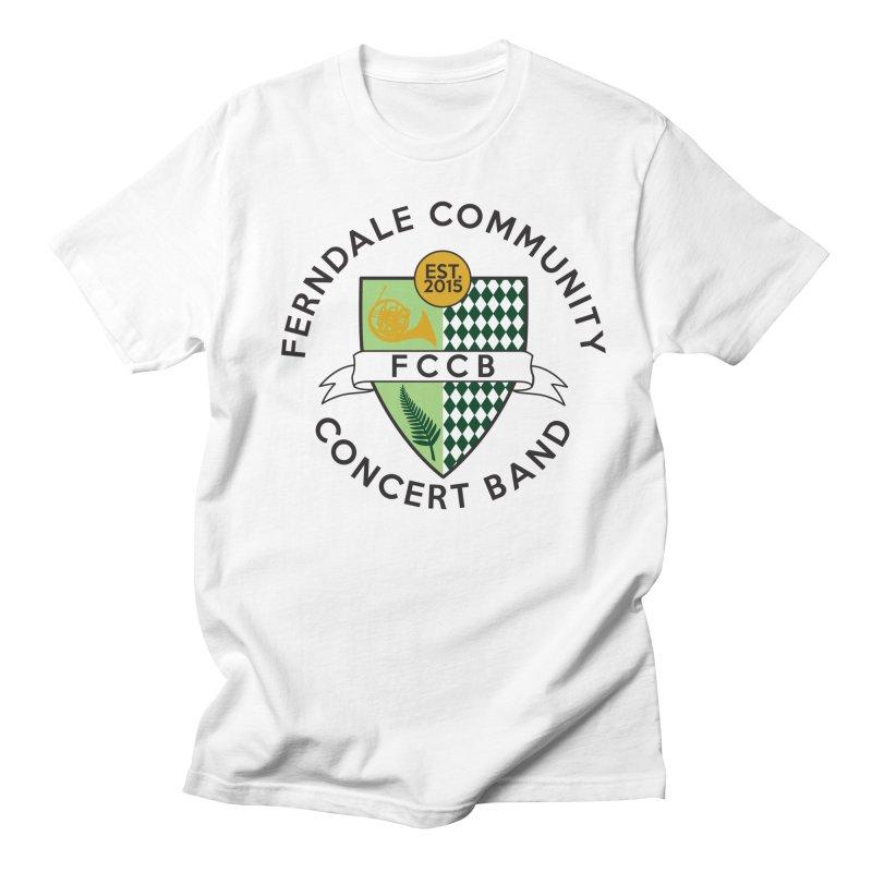 Large Crest- light styles Men's T-Shirt by FCConcertBand's Apparel Shop
