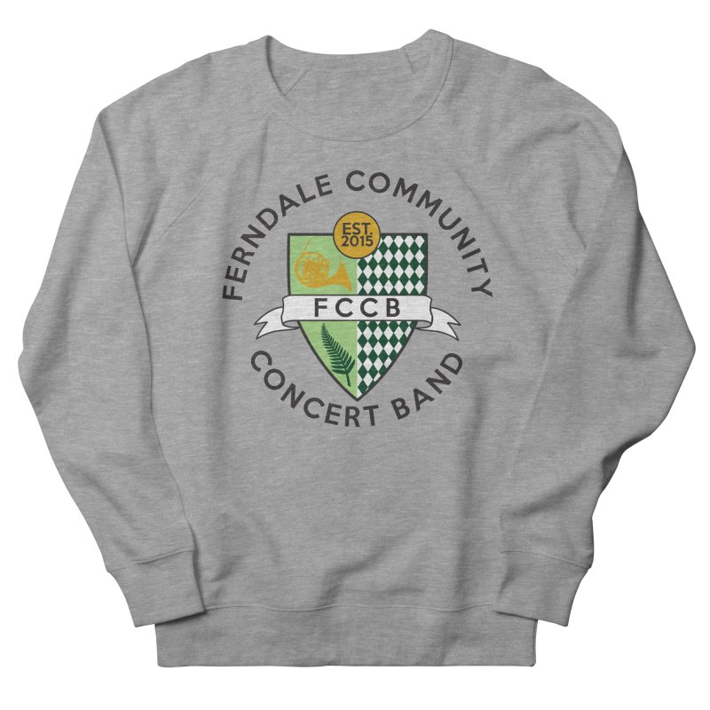 Large Crest- light styles Men's French Terry Sweatshirt by FCConcertBand's Apparel Shop