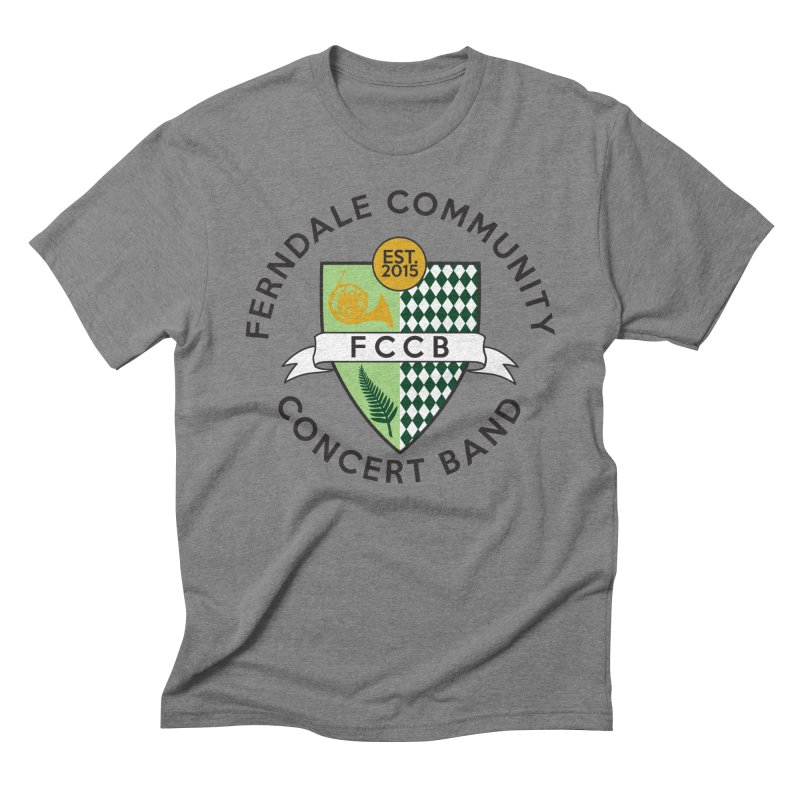 Large Crest- light styles Men's Triblend T-Shirt by FCConcertBand's Apparel Shop