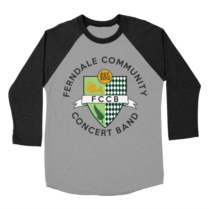 Large Crest- light styles Men's Baseball Triblend Longsleeve T-Shirt by FCConcertBand's Apparel Shop