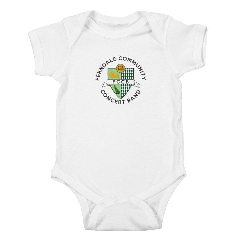 Large Crest- light styles Kids Baby Bodysuit by FCConcertBand's Apparel Shop