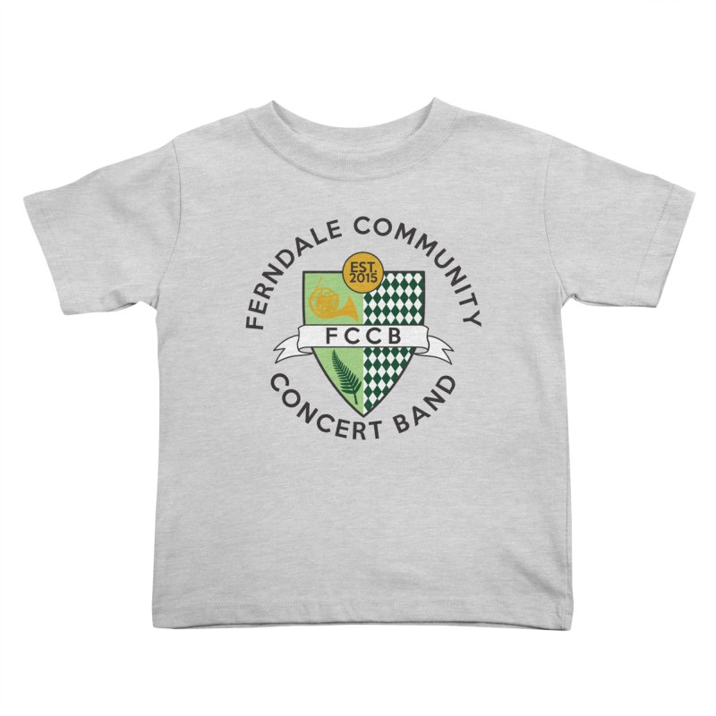 Large Crest- light styles Kids Toddler T-Shirt by FCConcertBand's Apparel Shop