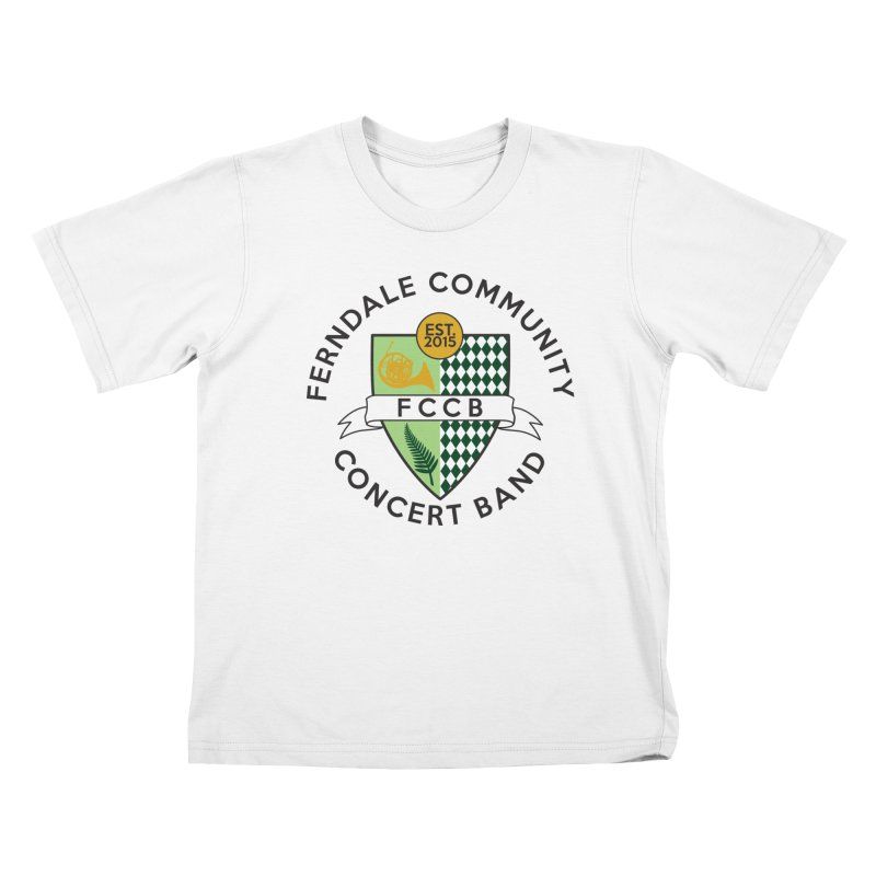 Large Crest- light styles Kids T-Shirt by FCConcertBand's Apparel Shop