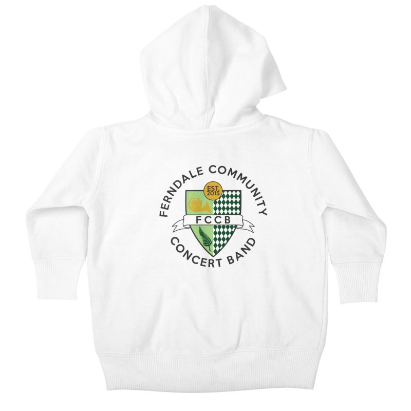 Large Crest- light styles Kids Baby Zip-Up Hoody by FCConcertBand's Apparel Shop