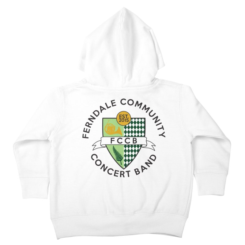 Large Crest- light styles Kids Toddler Zip-Up Hoody by FCConcertBand's Apparel Shop