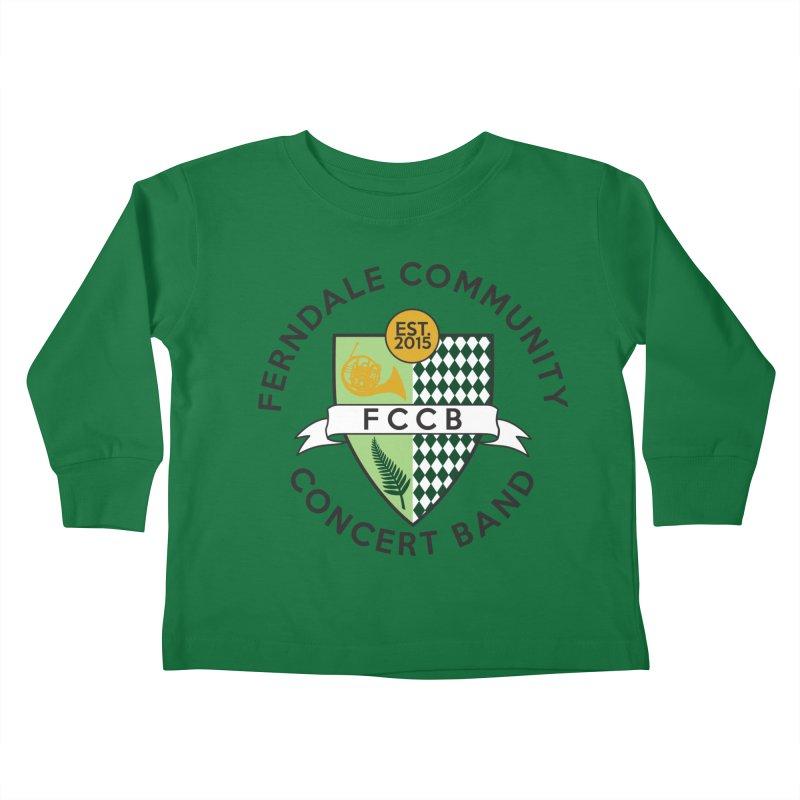 Large Crest- light styles Kids Toddler Longsleeve T-Shirt by FCConcertBand's Apparel Shop