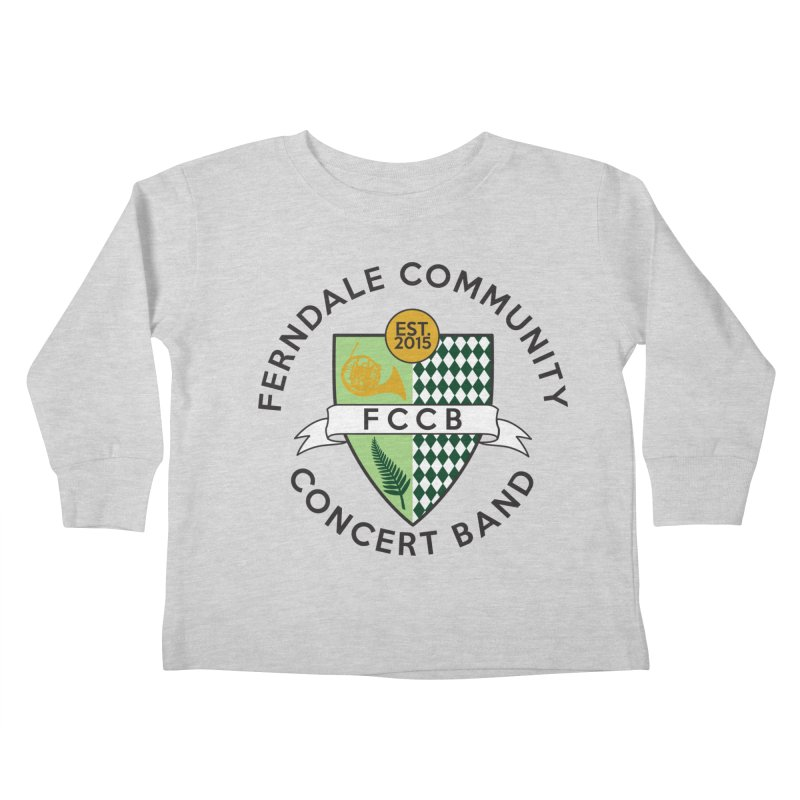 Large Crest- light styles Kids Toddler Longsleeve T-Shirt by FCConcertBand's Apparel Shop