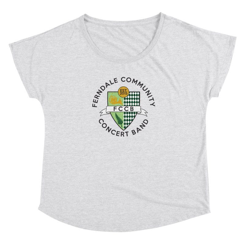 Large Crest- light styles Women's Dolman Scoop Neck by FCConcertBand's Apparel Shop