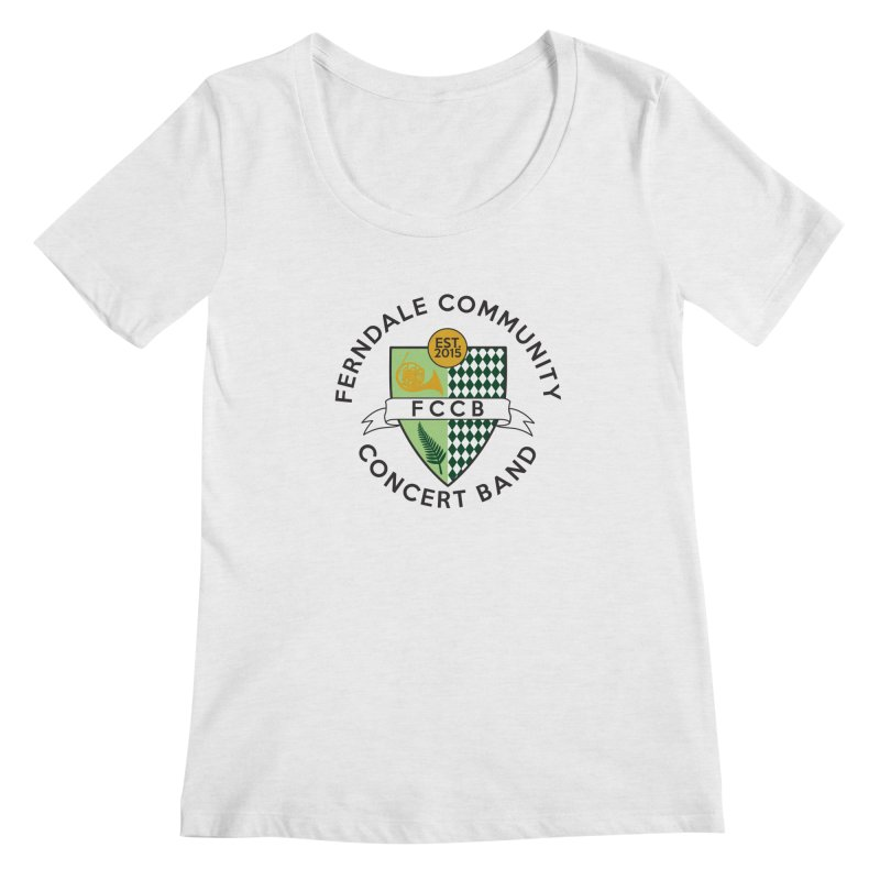 Large Crest- light styles Women's Scoop Neck by FCConcertBand's Apparel Shop