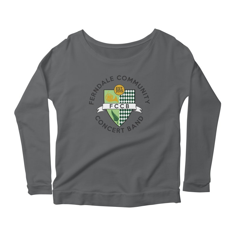 Large Crest- light styles Women's Scoop Neck Longsleeve T-Shirt by FCConcertBand's Apparel Shop