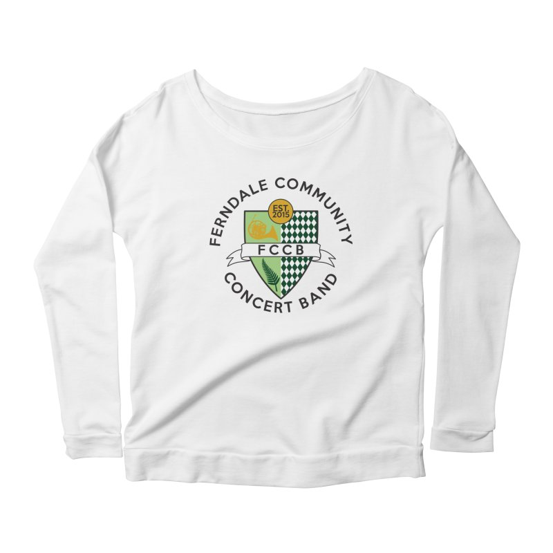 Large Crest- light styles Women's Scoop Neck Longsleeve T-Shirt by FCConcertBand's Apparel Shop