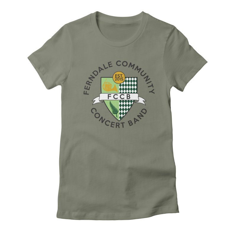 Large Crest- light styles Women's Fitted T-Shirt by FCConcertBand's Apparel Shop