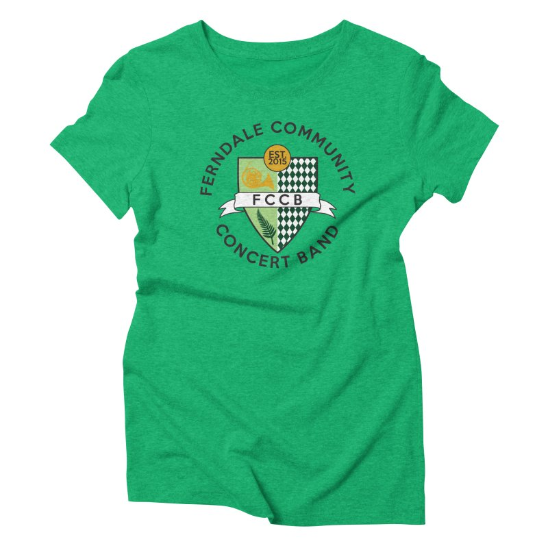 Large Crest- light styles Women's Triblend T-Shirt by FCConcertBand's Apparel Shop