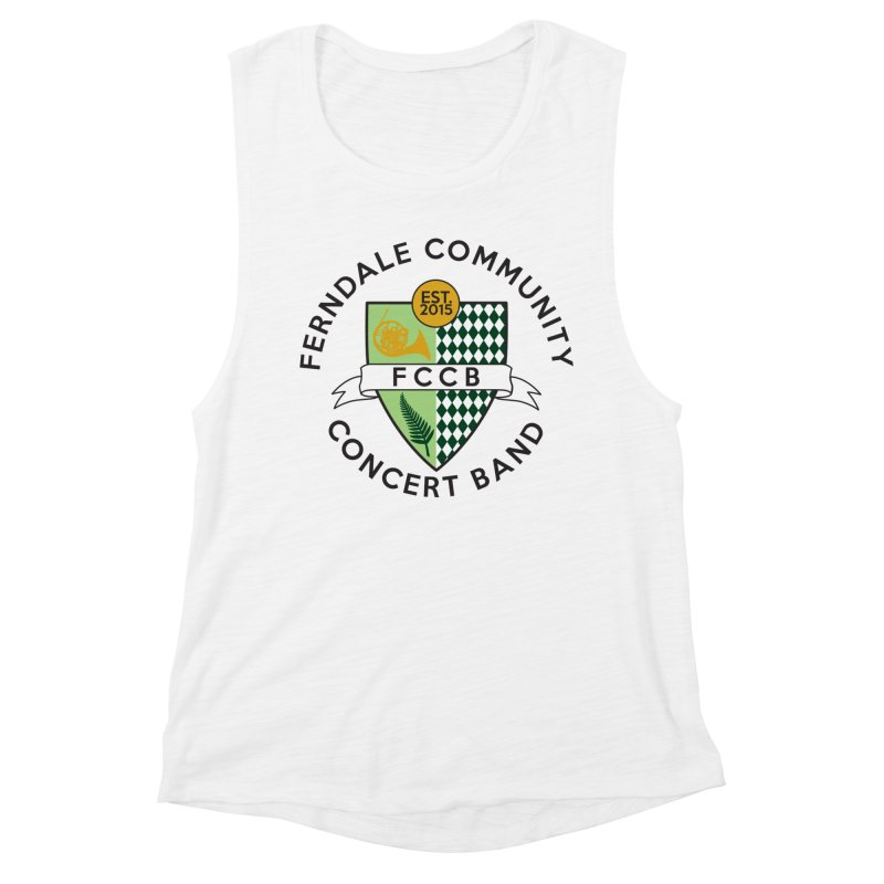 Large Crest- light styles Women's Muscle Tank by FCConcertBand's Apparel Shop