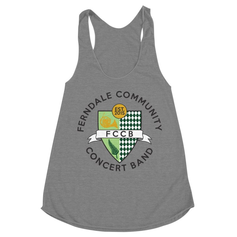 Large Crest- light styles Women's Racerback Triblend Tank by FCConcertBand's Apparel Shop