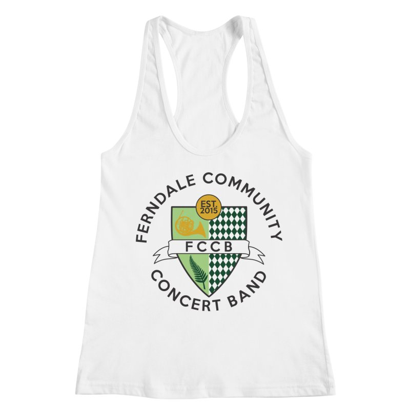 Large Crest- light styles Women's Racerback Tank by FCConcertBand's Apparel Shop