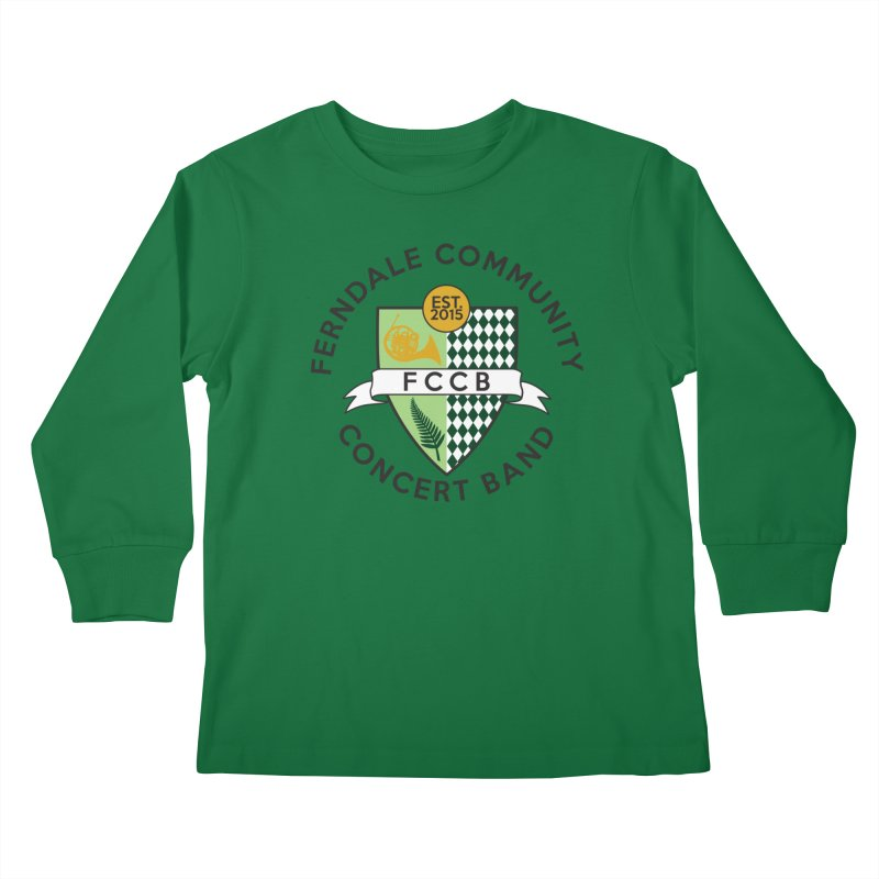 Large Crest- light styles Kids Longsleeve T-Shirt by FCConcertBand's Apparel Shop
