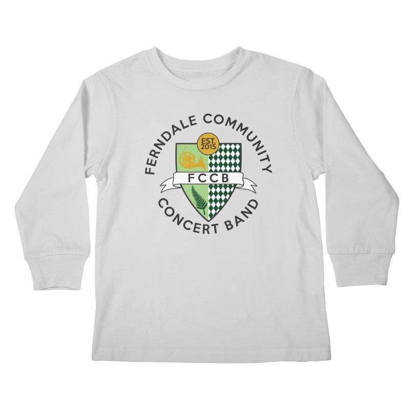 Large Crest- light styles Kids Longsleeve T-Shirt by FCConcertBand's Apparel Shop