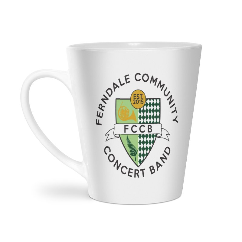 Large Crest- light styles Accessories Latte Mug by FCConcertBand's Apparel Shop
