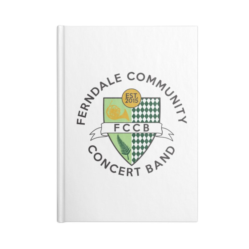 Large Crest- light styles Accessories Lined Journal Notebook by FCConcertBand's Apparel Shop