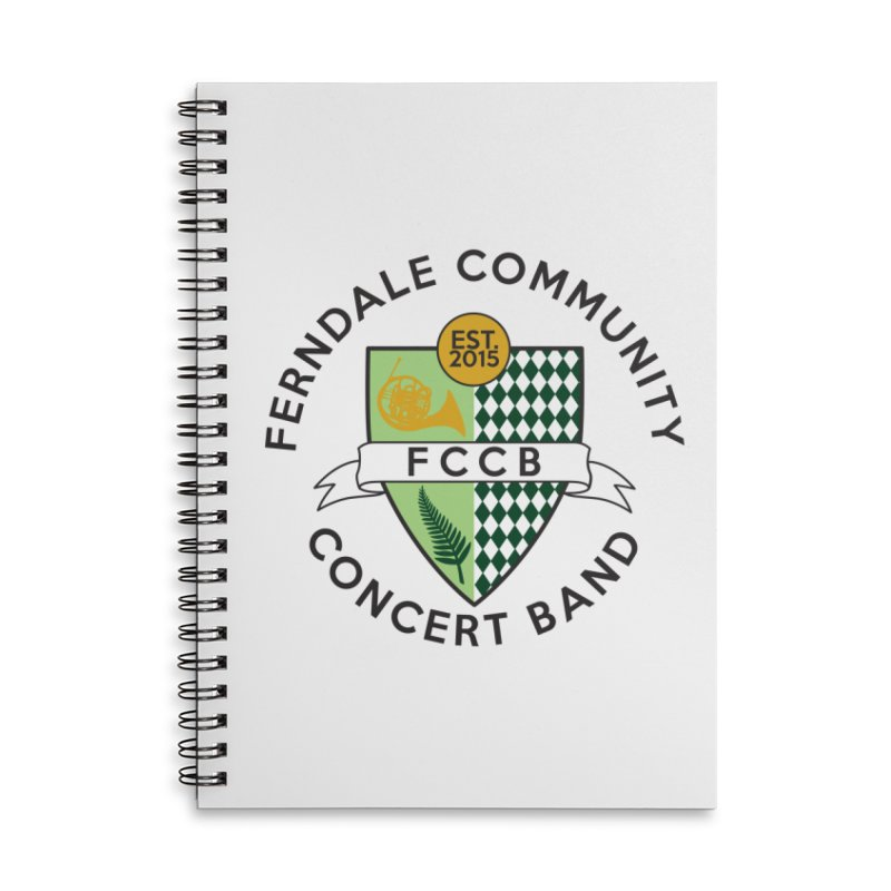 Large Crest- light styles Accessories Notebook by FCConcertBand's Apparel Shop
