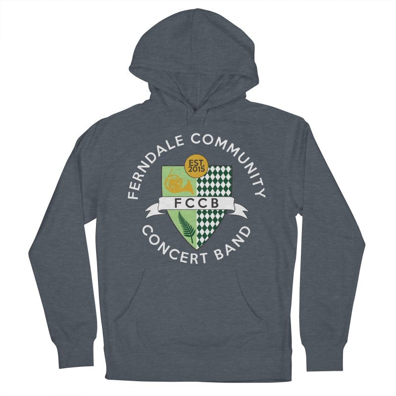 Large Crest- dark styles Men's French Terry Pullover Hoody by FCConcertBand's Apparel Shop