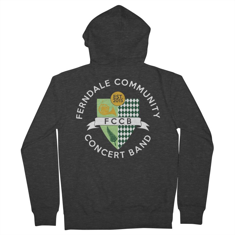Large Crest- dark styles Men's French Terry Zip-Up Hoody by FCConcertBand's Apparel Shop