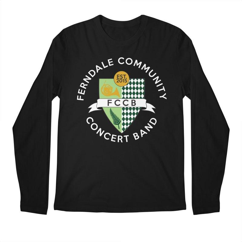 Large Crest- dark styles Men's Longsleeve T-Shirt by FCConcertBand's Apparel Shop
