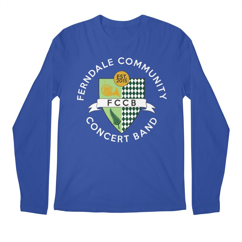 Large Crest- dark styles Men's Longsleeve T-Shirt by FCConcertBand's Apparel Shop