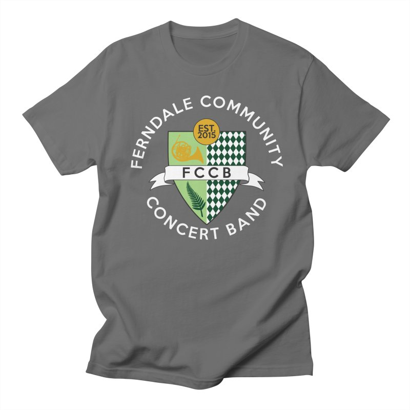 Large Crest- dark styles Men's T-Shirt by FCConcertBand's Apparel Shop