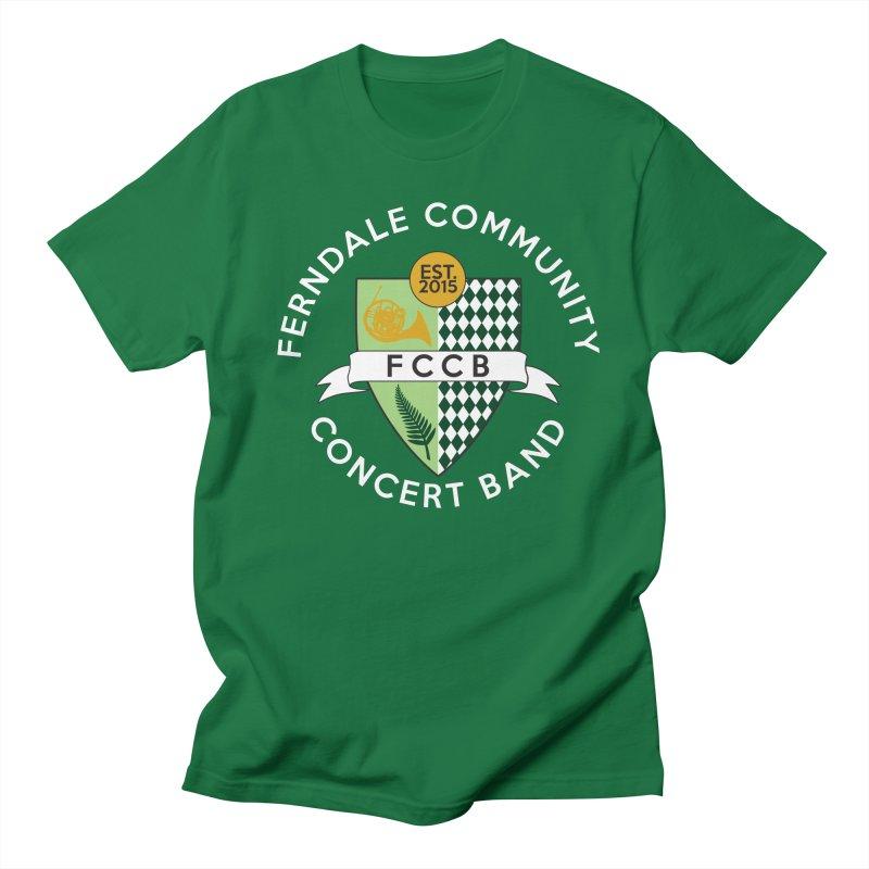 Large Crest- dark styles Women's Regular Unisex T-Shirt by FCConcertBand's Apparel Shop