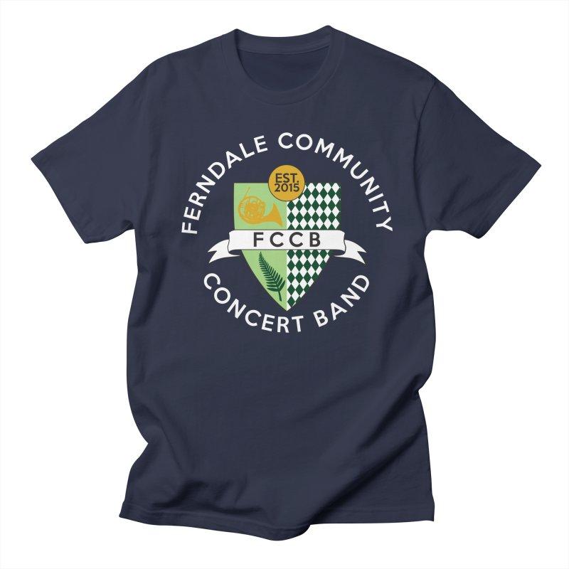 Large Crest- dark styles Men's Regular T-Shirt by FCConcertBand's Apparel Shop